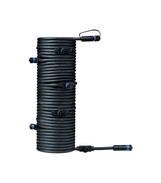 Plug&Shine Prolongateur 15m avec 7 sorties IP68 PAULMANN - 93931 - ACCESSOIRES ECLAIRAGE LED EXTERIEUR - siageo-led.com