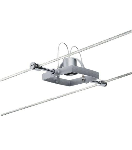 Spot sur câble MAC II Chrome mat GU5.3 sans ampoule PAULMANN - 94132 - PLAFONNIER & SUSPENSION DESIGN - siageo-led.com