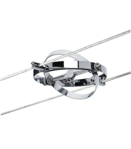 Spot sur câble CARDAN Chrome mat GU5,3 sans ampoule max10W PAULMANN - 94137 - PLAFONNIER & SUSPENSION DESIGN - siageo-led.com