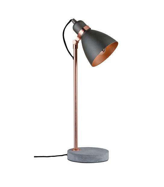 Lampe de table Neordic ORM E27 Cuivre béton sans ampoule PAULMANN - 79624 - ECLAIRAGE DECORATIF - siageo-led.com