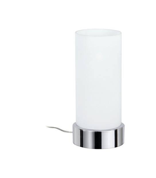 Lampe à poser PINJA Dimmable tactile Chrome opale PAULMANN - 77029 - ECLAIRAGE DECORATIF - siageo-led.com