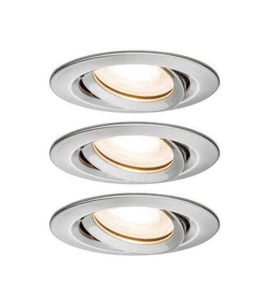 Spot encastrable NOVA 3spots dimmable 220V GU10 7W IP65 orientable Blanc Chaud PAULMANN - 92900 - ENCASTRABLE - siageo-led.com