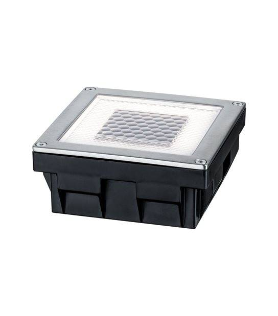 Eclairage Solaire encastrable Acier inox 0.24W IP67 Blanc Chaud PAULMANN - 93774 - ECLAIRAGE LED EXTERIEUR - siageo-led.com