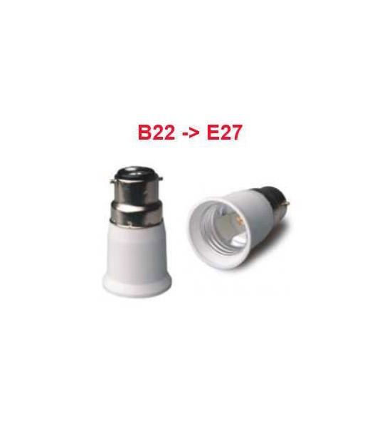Douille adaptateur B22 vers E27 pour lampes et ampoules - CD-907 - DOUILLE & ADAPTATEUR - siageo-led.com