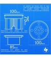 Spot encastrable Carré Inox verre dépoli QUEBEC 1.5W LED SMD intégrées IP67 Bleu extérieur HIPOW - CYBER WEEK - siageo-led.com