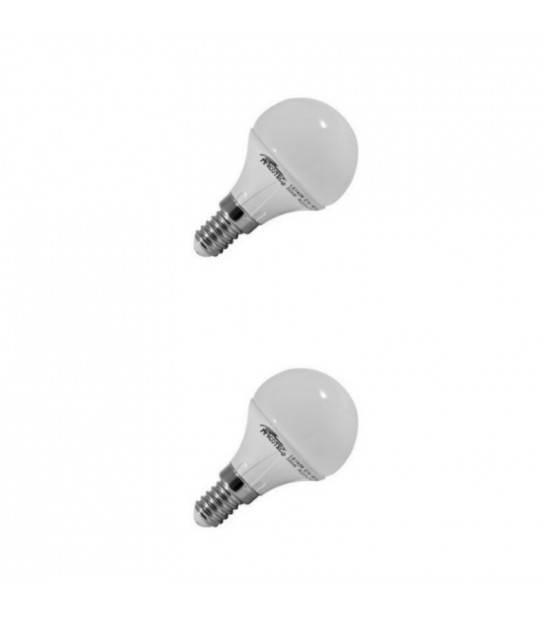 Lot de 2 Ampoules LED SMD E14 220V 4W 3000K Blanc Chaud - ARCOTEC LG144W - AMPOULE E14 - siageo-led.com