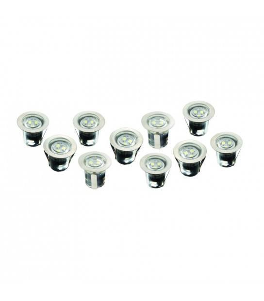 Lot de 10 Spot Encastrables 12V 3.6W 30LM IP68 4000K Blanc neutre - ROBUS R3LED10S-01 - PACK SPOT COMPLET - siageo-led.com