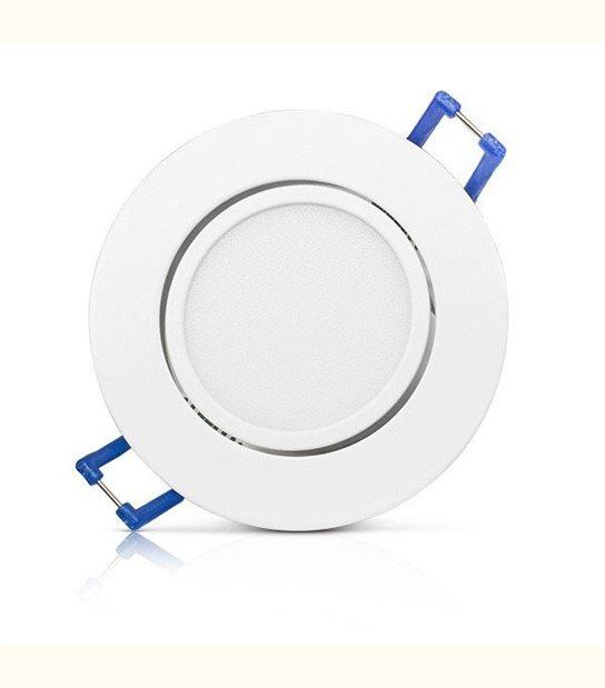 Spot led orientable 5 watt (eq. 50 watt) Encastrable - Couleur - Blanc froid 6000°K - OLD-LEDFLASH - siageo-led.com