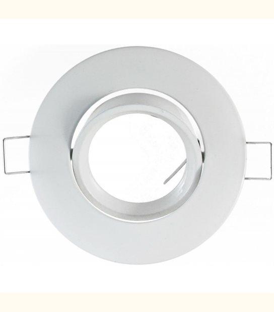 Support spot rond orientable 92 mm (2 couleurs au choix) - Finition - Blanc - OLD-LEDFLASH - siageo-led.com