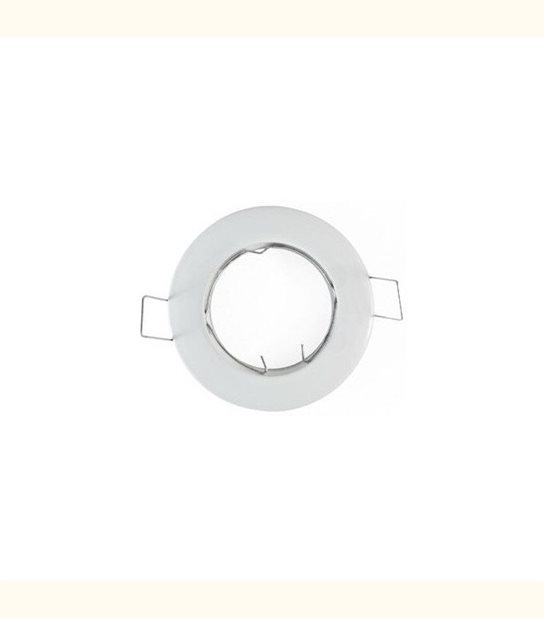Support spot rond fixe 78 mm blanc - Finition - Blanc - OLD-LEDFLASH - siageo-led.com