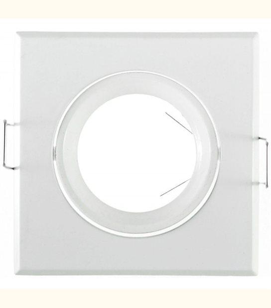 Support spot carré orientable 84 mm (2 couleurs au choix) - Finition - Blanc - OLD-LEDFLASH - siageo-led.com