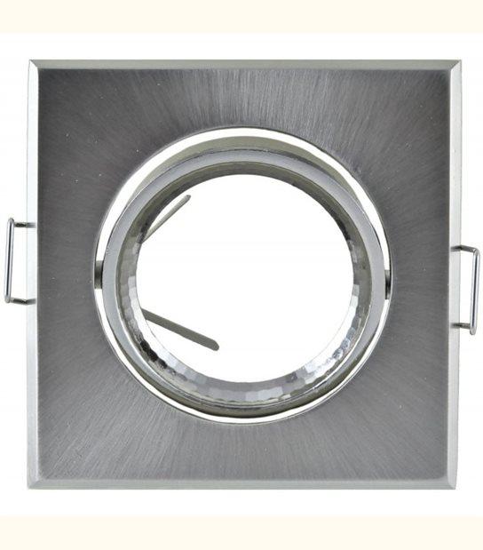 Support spot carré orientable 84 mm (2 couleurs au choix) - Finition - Grise - OLD-LEDFLASH - siageo-led.com