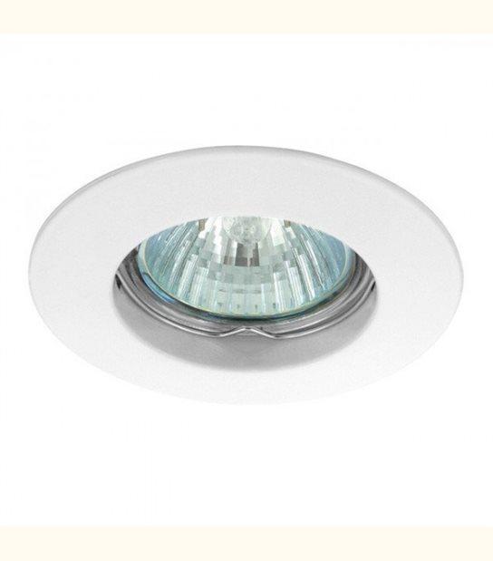 Support spot rond fixe 85 mm (4 couleurs au choix) - Finition - Blanc - OLD-LEDFLASH - siageo-led.com