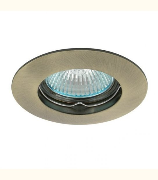 Support spot rond fixe 85 mm (4 couleurs au choix) - Finition - Laiton patiné - OLD-LEDFLASH - siageo-led.com