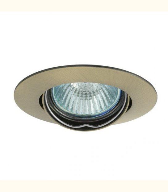 Support spot rond orientable 88 mm (4 couleurs au choix) - Finition - Laiton patiné - OLD-LEDFLASH - siageo-led.com