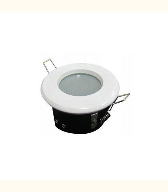 Support spot led étanche IP65 finition blanche - Culot - GU5.3 - OLD-LEDFLASH - siageo-led.com