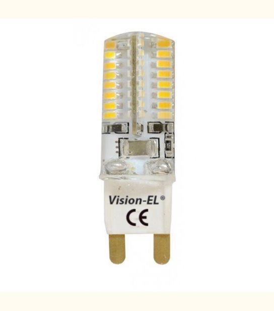 Ampoule led G9 3 watt (eq. 30 watt) - Couleur - Blanc chaud 3000°K - OLD-LEDFLASH - siageo-led.com