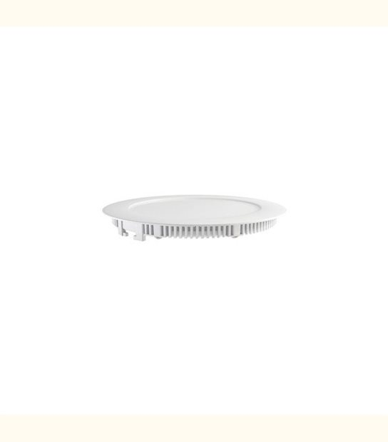Plafonnier LED 18W (eq. 160W) - Diam : 235mm - Couleur - Blanc chaud 3000°K, Finition - Aluminium - OLD-LEDFLASH - siageo-led.com
