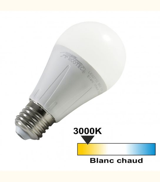 Ampoule led E27 12 watt (eq. 75 watt) - Couleur - Blanc chaud 3000°K - OLD-LEDFLASH - siageo-led.com