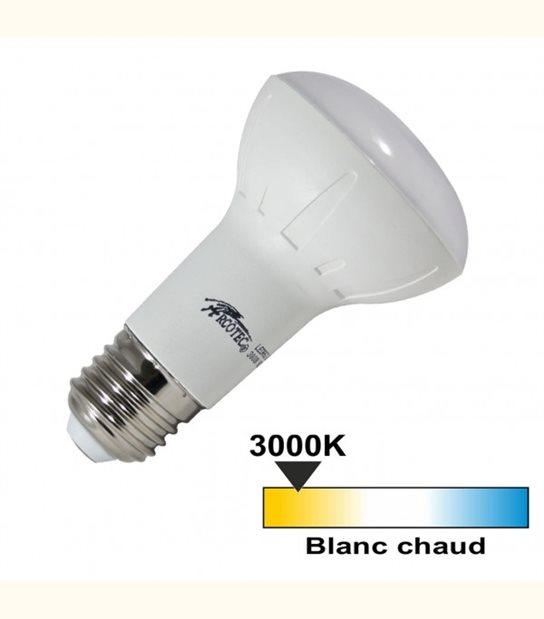 Ampoule led R63 E27 7 watt (eq. 45 watt) - Couleur - Blanc chaud 3000°K - OLD-LEDFLASH - siageo-led.com