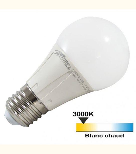 Ampoule led E27 6 watt (eq. 40 watt) - 270° - Couleur - Blanc chaud 3000°K - OLD-LEDFLASH - siageo-led.com