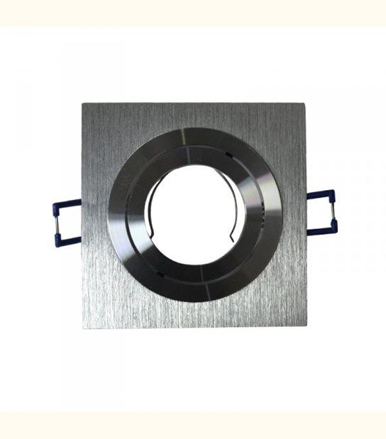 Support spot carré orientable gris 92 mm - Finition - Grise - OLD-LEDFLASH - siageo-led.com