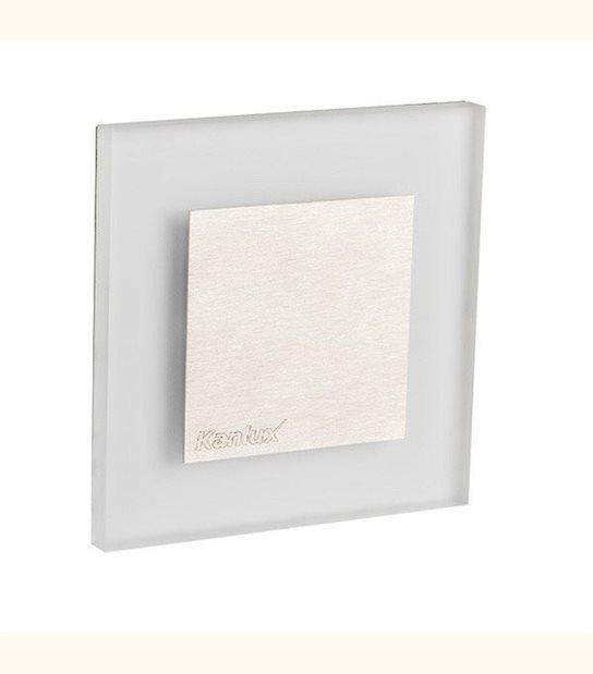 Applique led murale carré avec cache central 1 watt - Couleur - Blanc chaud 3000°K - OLD-LEDFLASH - siageo-led.com
