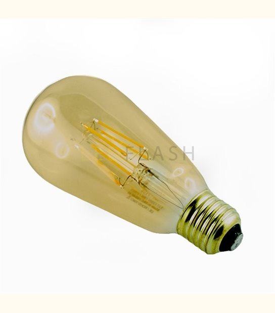 Ampoule led E27 filament ST64 8 watt (eq. 70 watt) - Couleur - Blanc neutre 4000°K - OLD-LEDFLASH - siageo-led.com