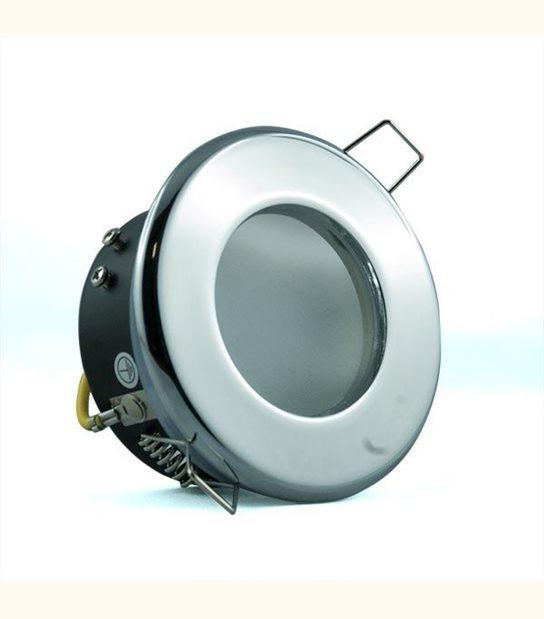 Support étanche IP65 - Culot - GU5.3, Finition - Chromé - OLD-LEDFLASH - siageo-led.com