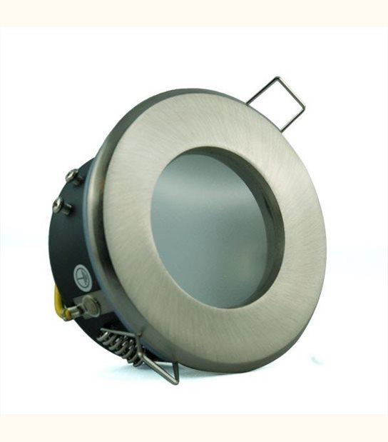 Support étanche IP65 - Culot - GU5.3, Finition - Acier brossé - OLD-LEDFLASH - siageo-led.com