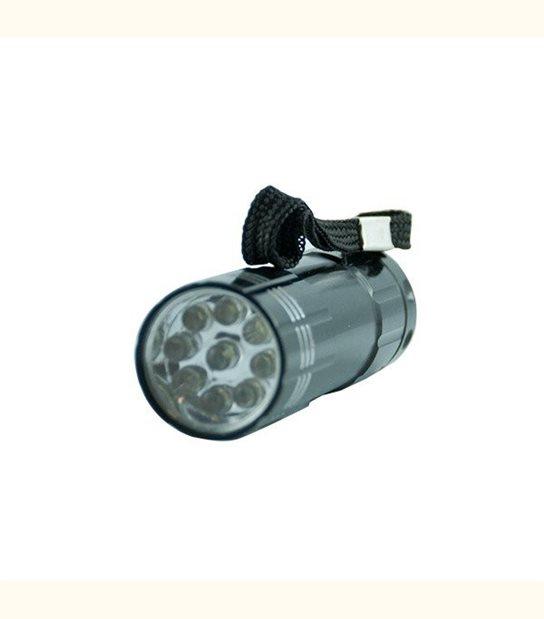 Torche à led puissante - portée 30 mètres - 9 leds - Finition - Grise - OLD-LEDFLASH - siageo-led.com