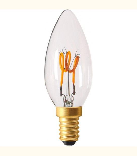 Ampoule led E14 Twisted & Loop 2 watt (eq. 10 watt) - Finition - Claire - OLD-LEDFLASH - siageo-led.com