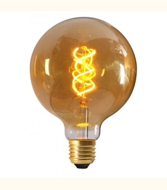 Ampoule led E27 Twisted & Loop G125 5 watt (eq. 25 watt) - Couleur - Blanc chaud 2100°K - OLD-LEDFLASH - siageo-led.com