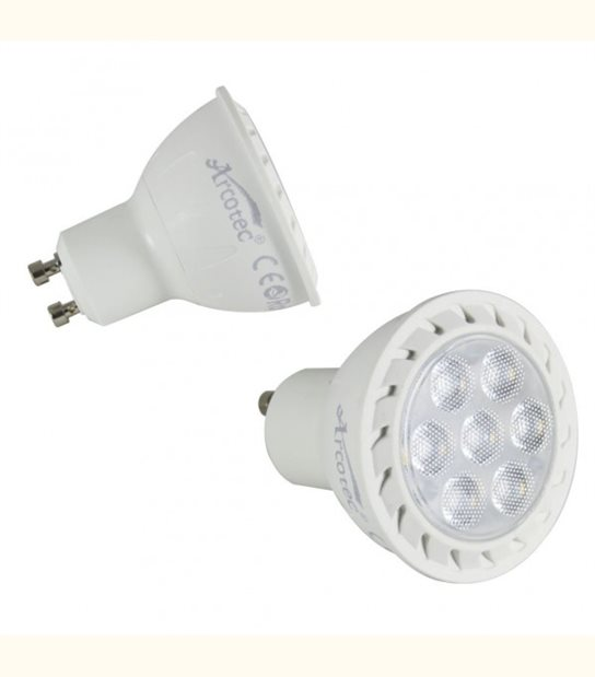 Spot led GU10 7 watt (eq. 60 watt) - pack de 2 - Couleur - Blanc neutre 4000°K - OLD-LEDFLASH - siageo-led.com