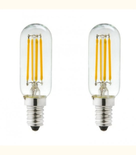 Lot de 2 ampoules led E14 4 watt (eq. 40 watt) - Couleur - Blanc chaud 2700°K - OLD-LEDFLASH - siageo-led.com