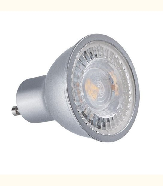 Spot led GU10 angle 60° 7 watt (eq 45 watt) - finition grise - Couleur - Blanc chaud 3000°K - OLD-LEDFLASH - siageo-led.com