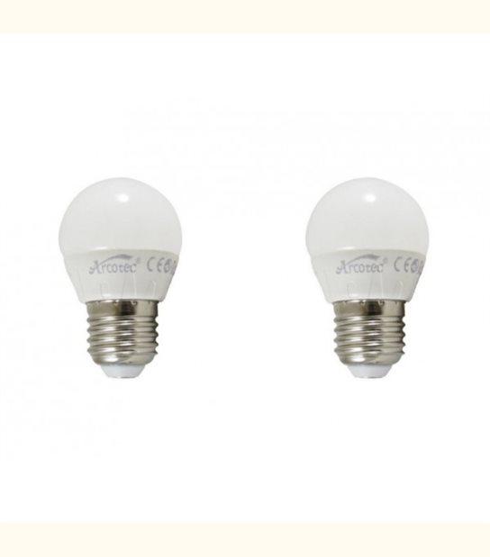 Pack de 2 ampoules led E27 4 watt (eq. 30 watt) - Couleur - Blanc chaud 3000°K - OLD-LEDFLASH - siageo-led.com