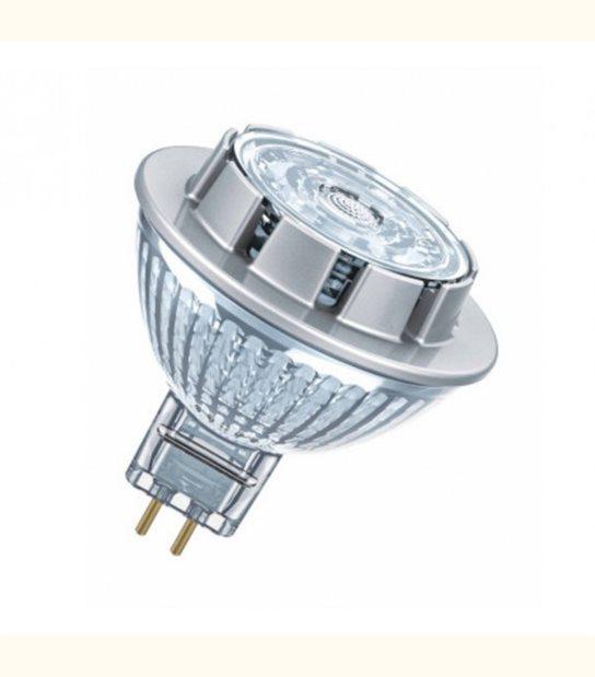 Ampoule LED star Dichroïque 7,2W (éq. 50W) 12v GU5,3 OSRAM - Couleur - Blanc chaud 2700°K - OLD-LEDFLASH - siageo-led.com