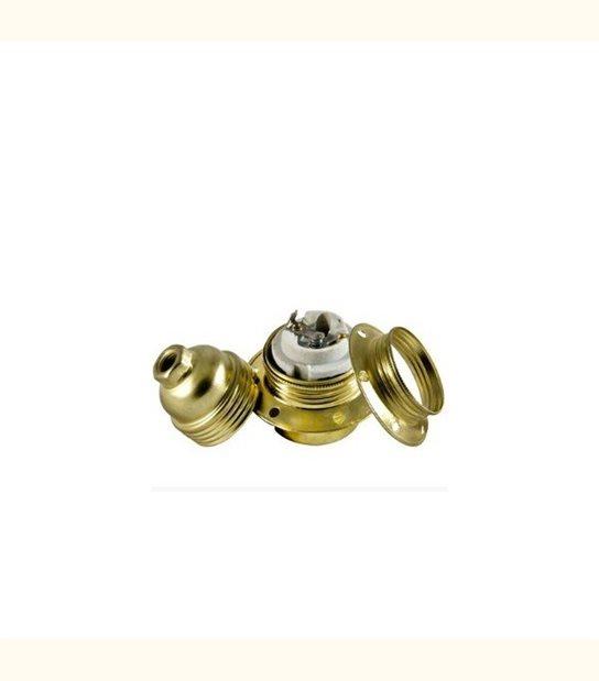 Douille filetée E27 + bague - Finition - Or - OLD-LEDFLASH - siageo-led.com