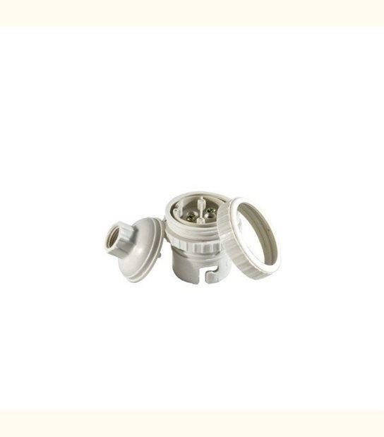 Douille filetée B22 à vis + bague - Finition - Blanc - OLD-LEDFLASH - siageo-led.com