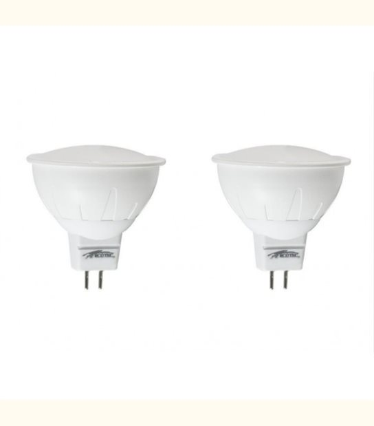 Lot de 2 spots led GU5.3 3 watt (eq. 30 watt) - Couleur - Blanc chaud 3000°K - OLD-LEDFLASH - siageo-led.com
