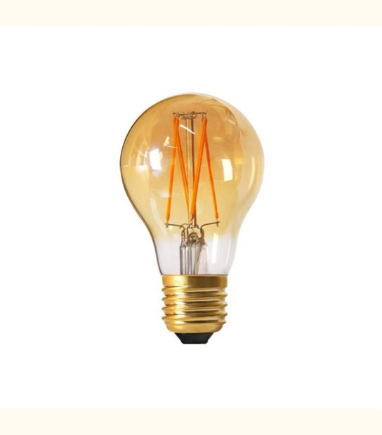 Filament LED A60 E27 4 watt (eq. 30 watt) GIRARD SUDRON - Couleur - Blanc chaud 2200°K, Finition - Ambrée - OLD-LEDFLASH - siageo-led.com