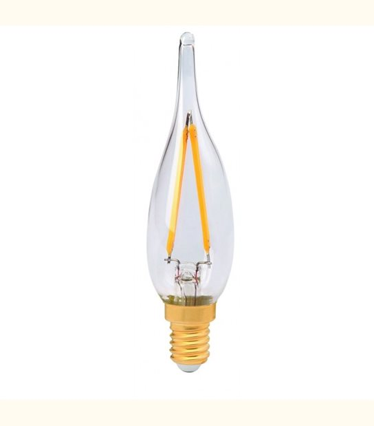Filament LED Grand Siècle E14 1 watt (eq. 10 watt) GIRARD SUDRON - Couleur - Blanc chaud 2500°K, Finition - Ambrée - OLD-LEDFLASH - siageo-led.com