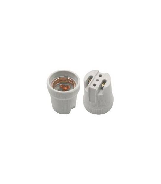 Douille E27 Céramique simple pour lampes et ampoules - DOUILLE & ADAPTATEUR - siageo-led.com