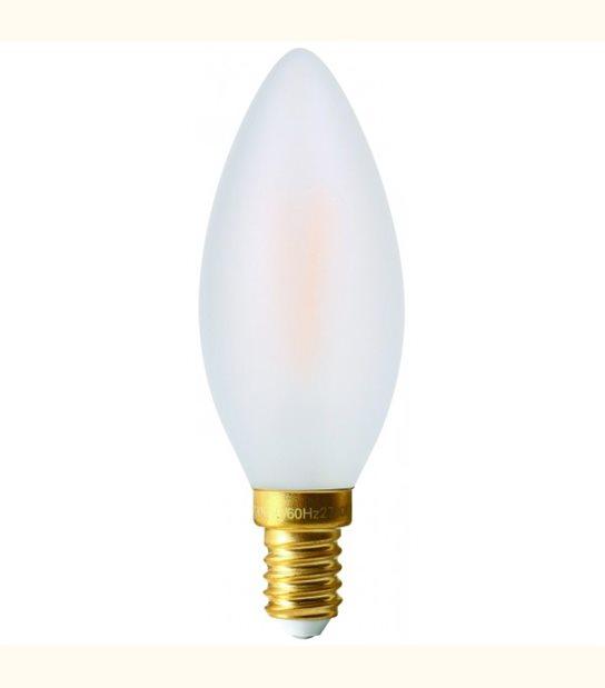 Filament LED Flamme E14 4 watt (eq. 30 watt) GIRARD SUDRON - Couleur - Blanc chaud 2700°K, Finition - Dépolie - OLD-LEDFLASH - siageo-led.com