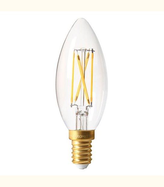 Filament LED Flamme E14 4 watt (eq. 32 watt) GIRARD SUDRON - Couleur - Blanc chaud 2700°K, Finition - Claire - OLD-LEDFLASH - siageo-led.com