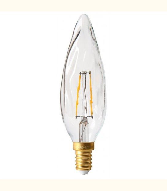 Filament LED Torche Nouvelle E14 2 watt (eq. 20 watt) GIRARD SUDRON - Couleur - Blanc chaud 2700°K, Finition - Dépolie - OLD-LEDFLASH - siageo-led.com