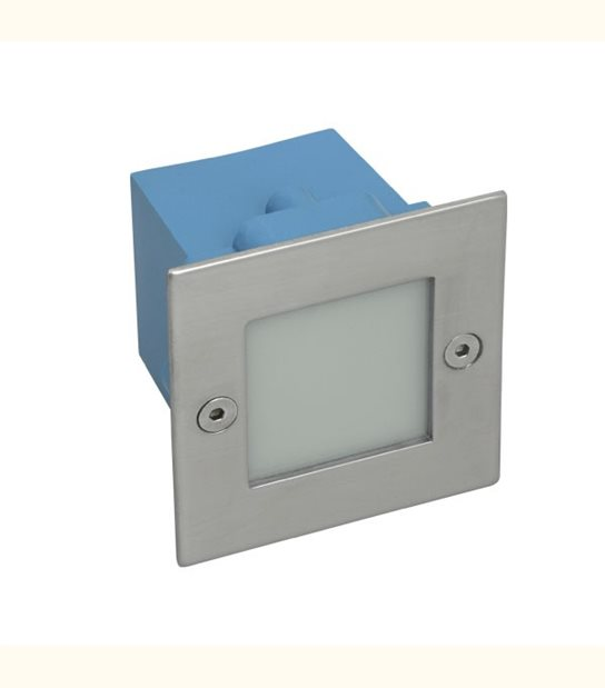 Applique led IP 54 0,6 watt carré encastrable - Couleur - Blanc chaud 3000°K - OLD-LEDFLASH - siageo-led.com