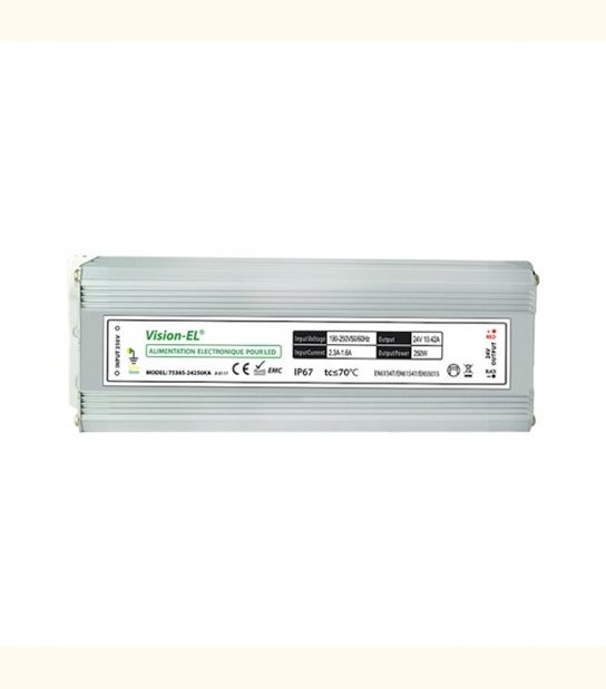 Transformateur 24 volt - 220 volt 250 watt étanche - OLD-LEDFLASH - siageo-led.com