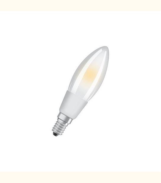 Ampoule led Flamme E14 5 watt (eq. 40 watt) Dimmable Retrofit OSRAM - Couleur - Blanc chaud 2700°K, Finition - Dépolie - OLD-LEDFLASH - siageo-led.com